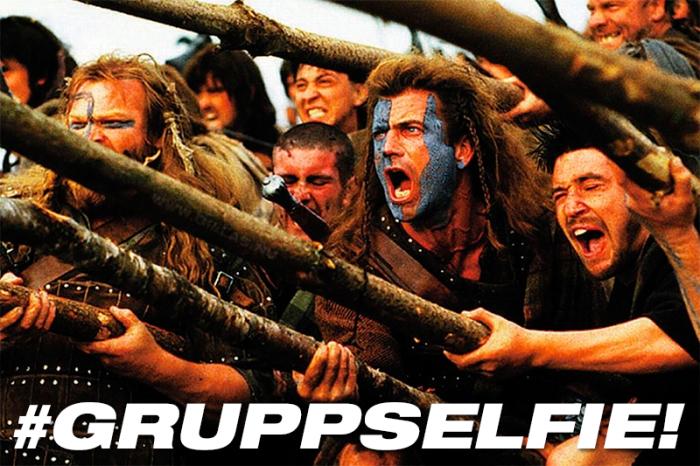 Skottarna har selfiepinnar av rang!