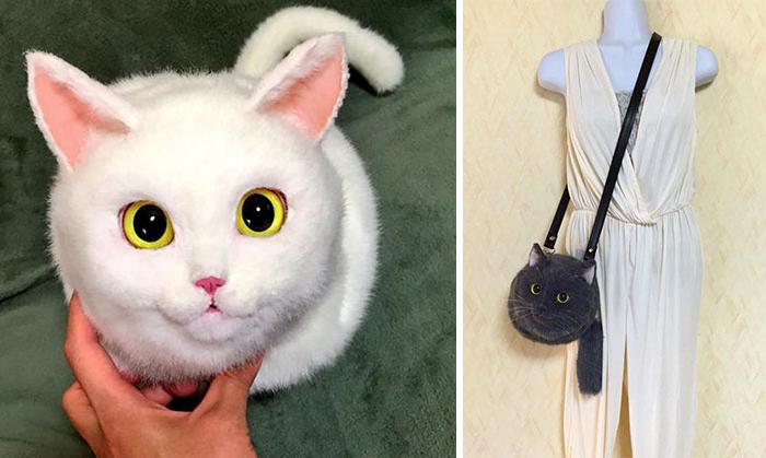 Skrämmande eller gulligt? Kattväskor är den nya trenden i Japan!