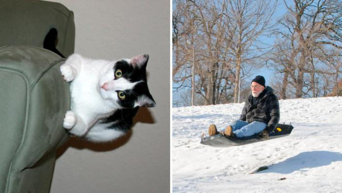 Tjugofem bilder där någon verkar ha slagit av gravitationen