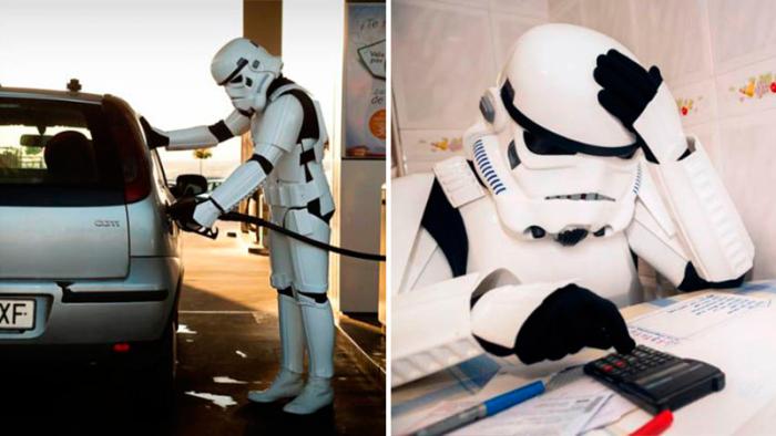 Sjutton bilder med Stormtroopers som inte är på jobbet