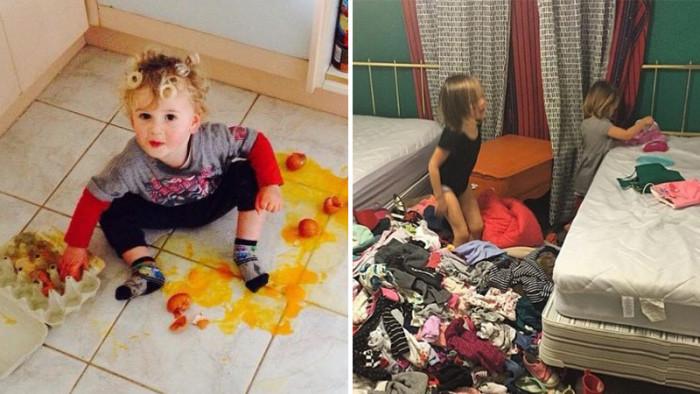 23 härliga bilder som bevisar att livet med småbarn aldrig blir långtråkigt!