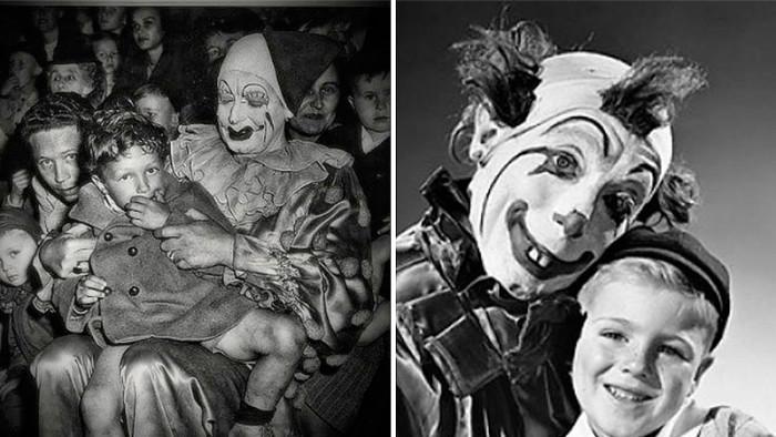 Tjugotre vintagebilder som bekräftar att din rädsla för clowner är berättigad!