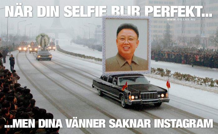 Tar man en perfekt selfie så vill man såklart gärna visa upp den