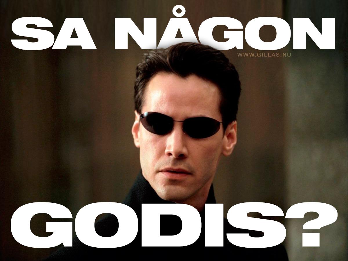 Neo i The Matrix - Sa någon godis?