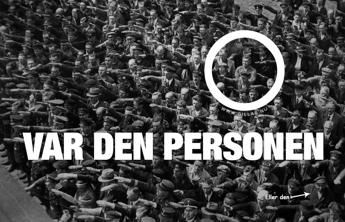 Man som vägrar göra Hitlerhälsning