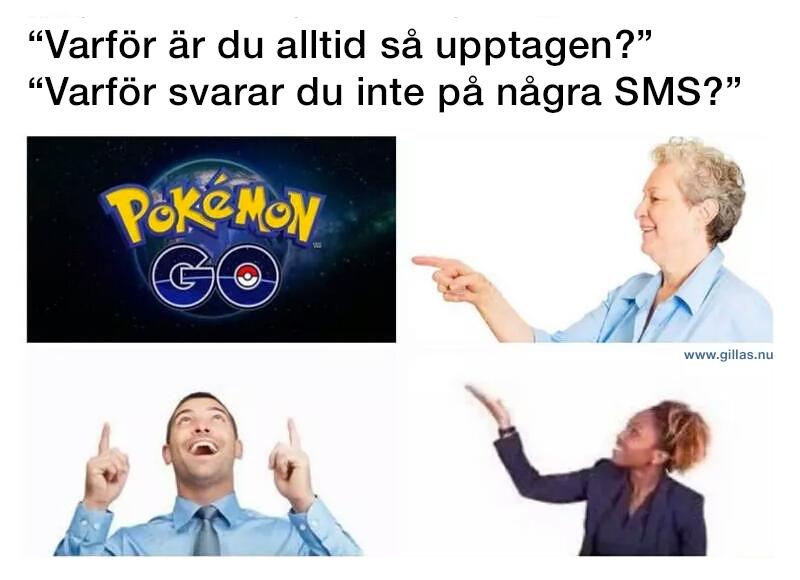 Människor som pekar på Pokémon GO - Varför ar du alltid så upptagen?