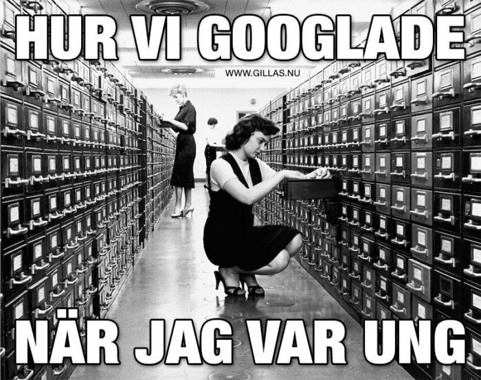 Sökandet efter kunskap var mer fysiskt krävande innan Google