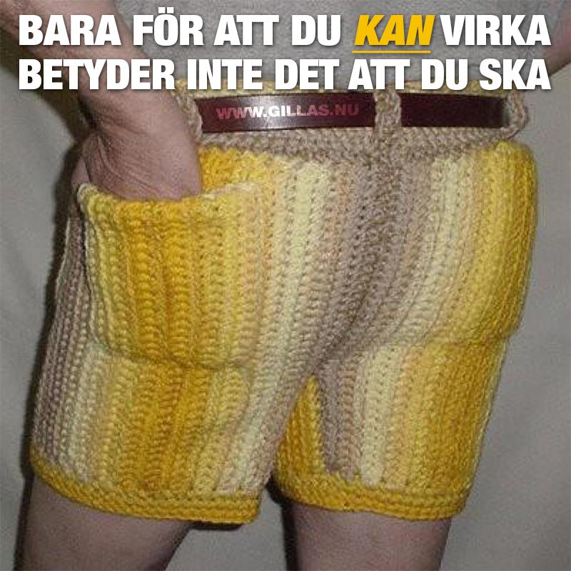 Virkade shorts - Bara för att du kan virka betyder det inte att du ska