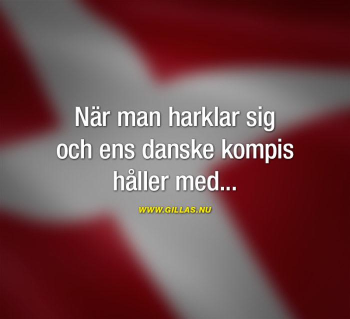 Svenska är mer likt Danska än tvärt om