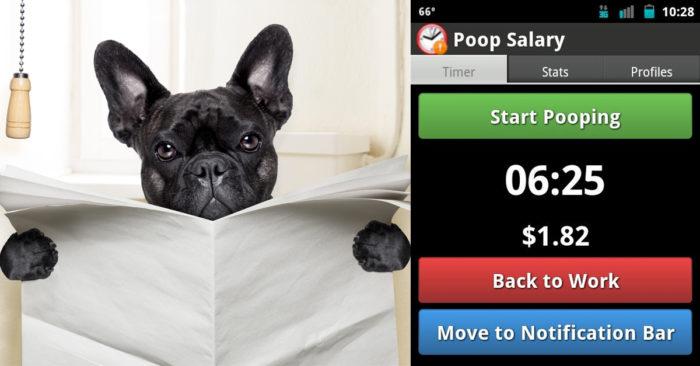 """""""Poop Salary Calculator"""" håller koll på vad du tjänar på att gå på toaletten på arbetstid"""