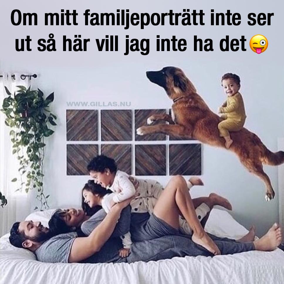 Roligt familjeporträtt