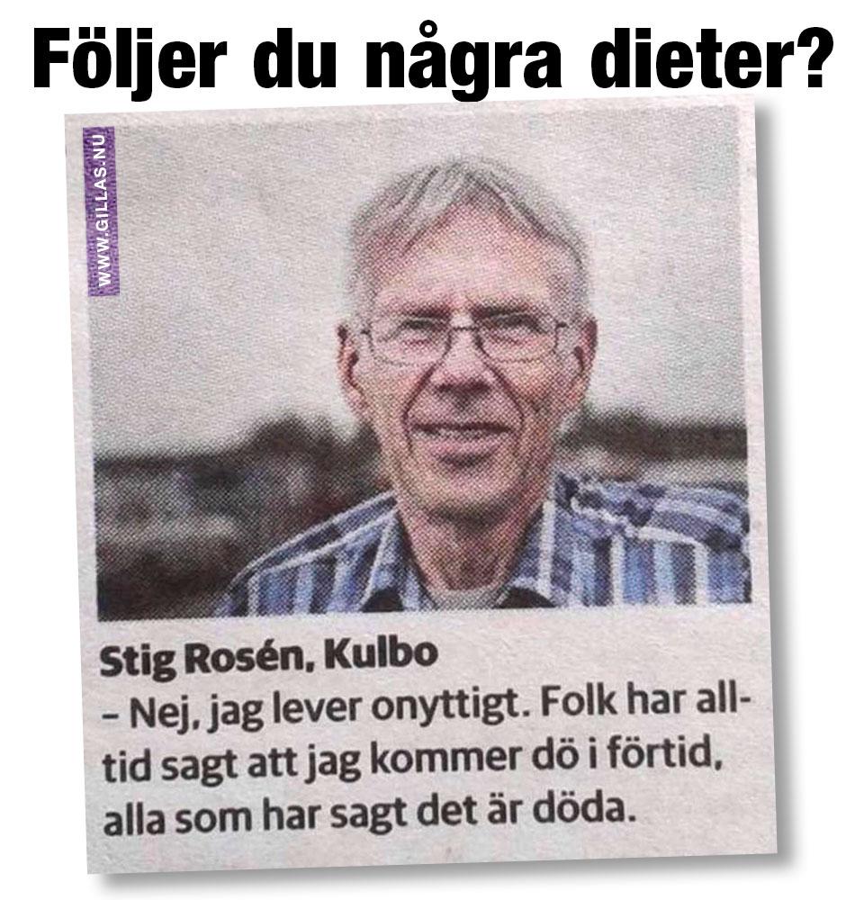 Roligt citat av Stig Rosén