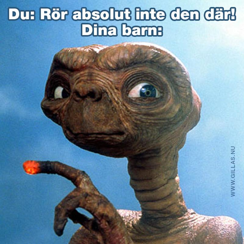 E.T. med lysande finger