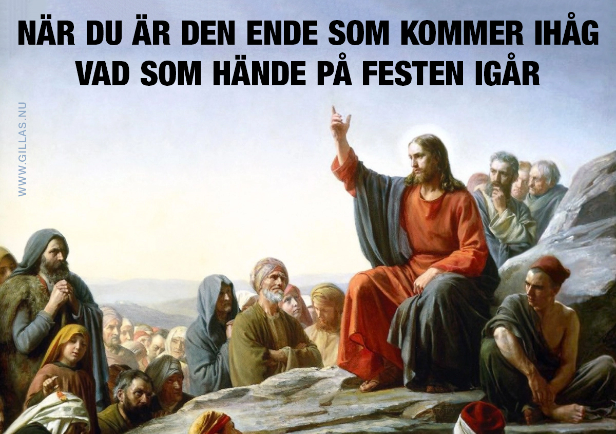 Jesus predikar på berg