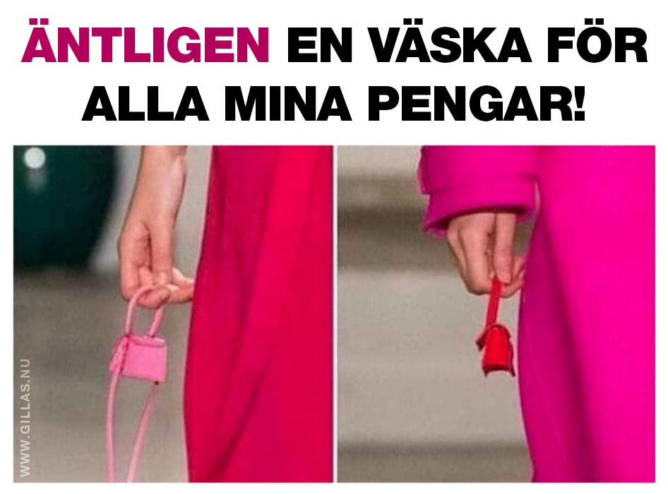 Extremt liten handväska
