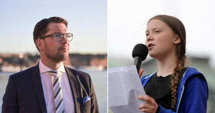 Här är Greta Thunbergs svar till Jimmie Åkesson efter kritiken