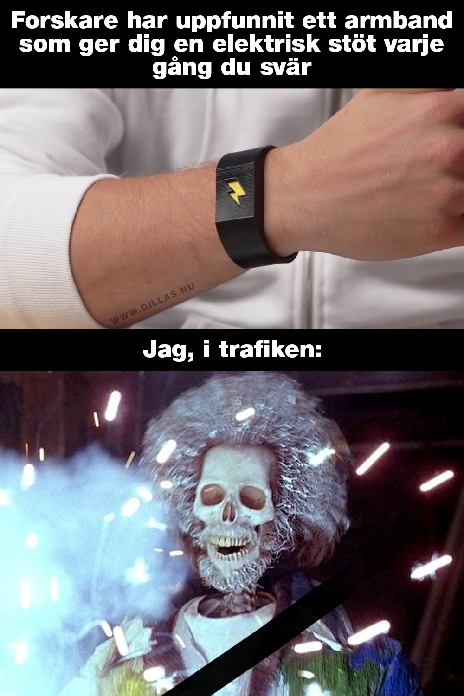 Armband som ger dig en elektrisk stöt varje gång du svär