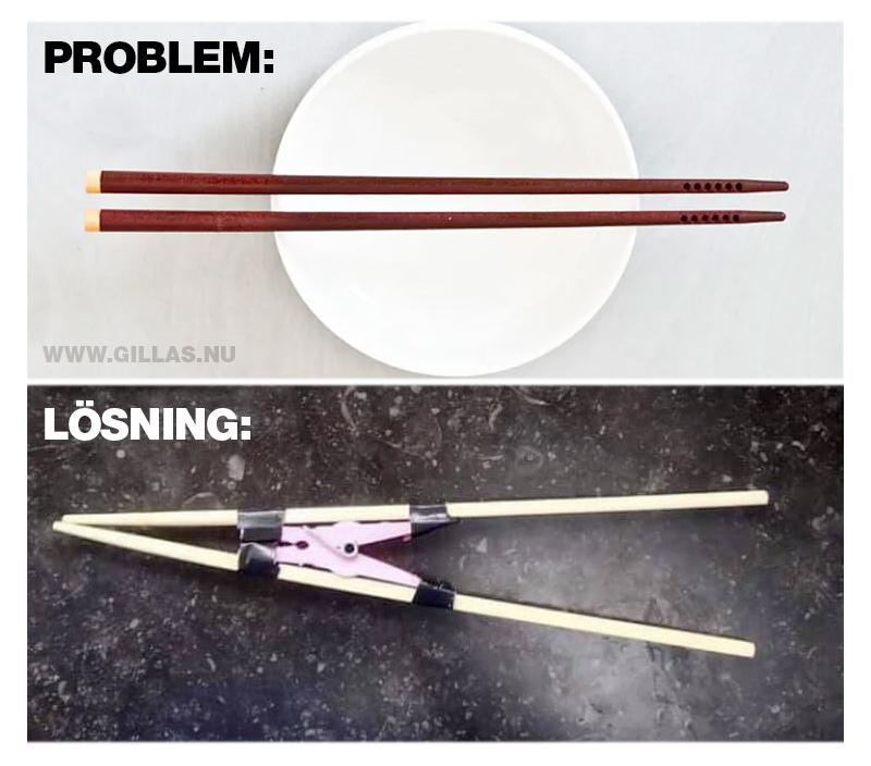 Lösning på problem med ätpinnar