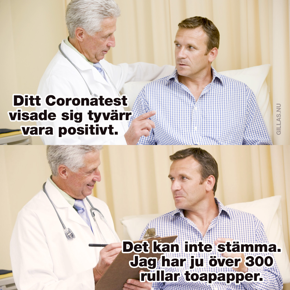 Man hos doktor