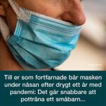 Angående munskydd under näsan