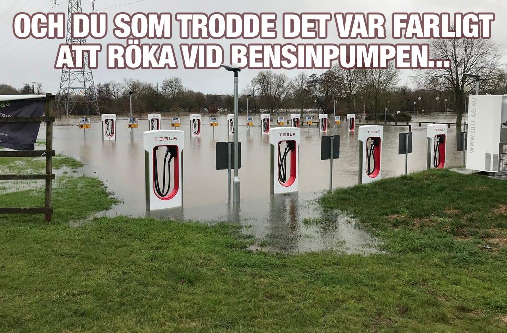 Laddstation för bilar under vatten